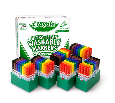 Ultra-Clean Washable Markers for Kids, 192 Count, 8 Colors