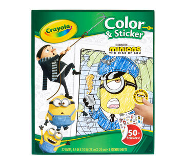 Minions 2 Color & Sticker Set Front View