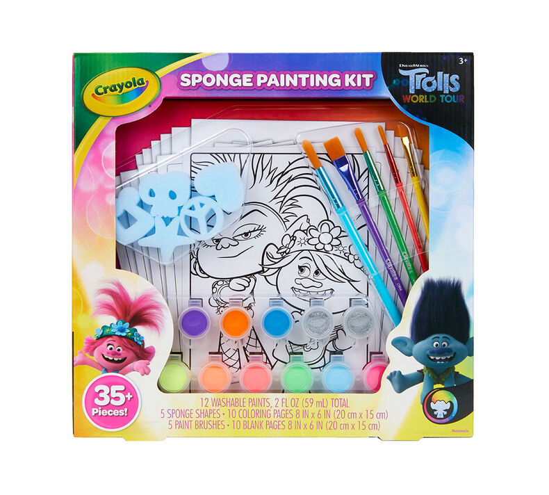 Trolls World Tour Sponge Painting Set