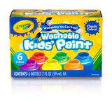 Washable Kids Paint 2 ounce  6 count front panel
