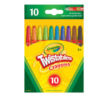 Crayola Mini Twistable Crayons 10 count front