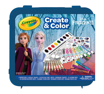 Frozen 2 Create & Color Art Set Front View