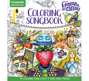 Lennon and McCartney Adult Coloring Book Front Cover