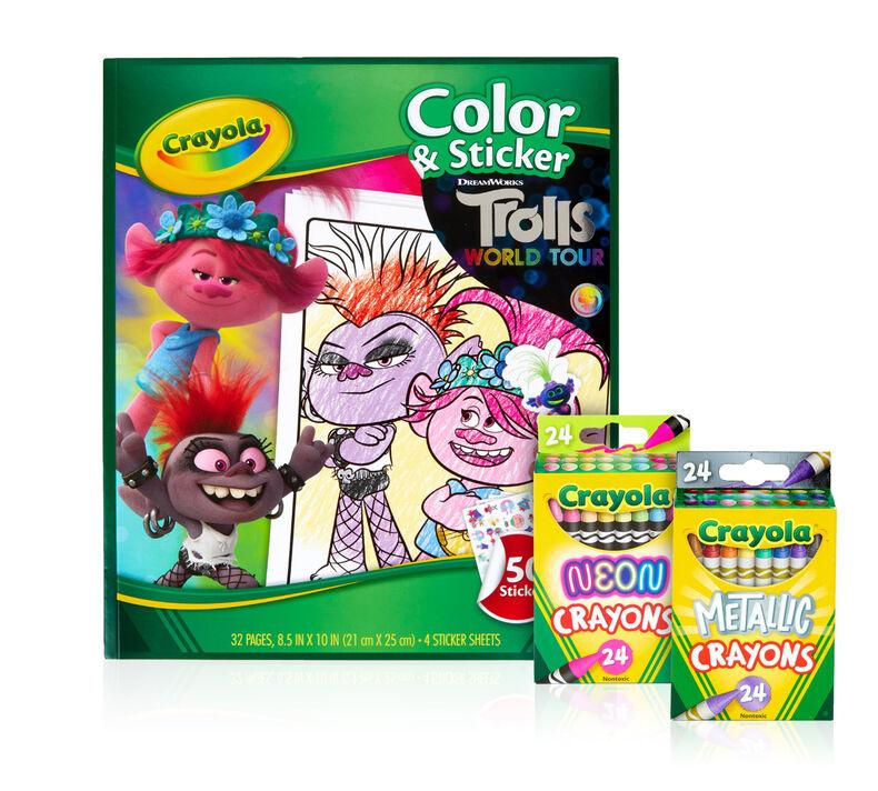 Trolls World Tour Color & Sticker Book Set