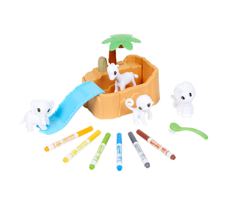 Scribble Scrubbie Pets & Safari Tub Playsets