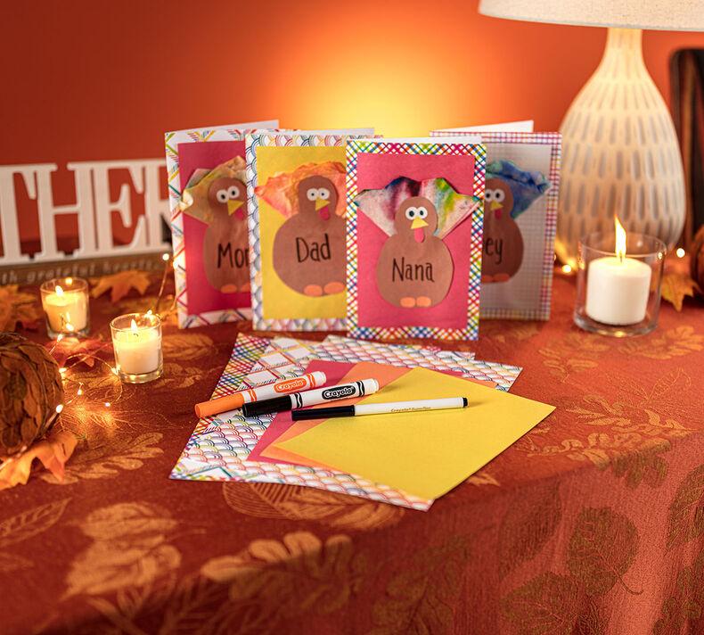 Turkey Thanksgiving Card Craft Kit
