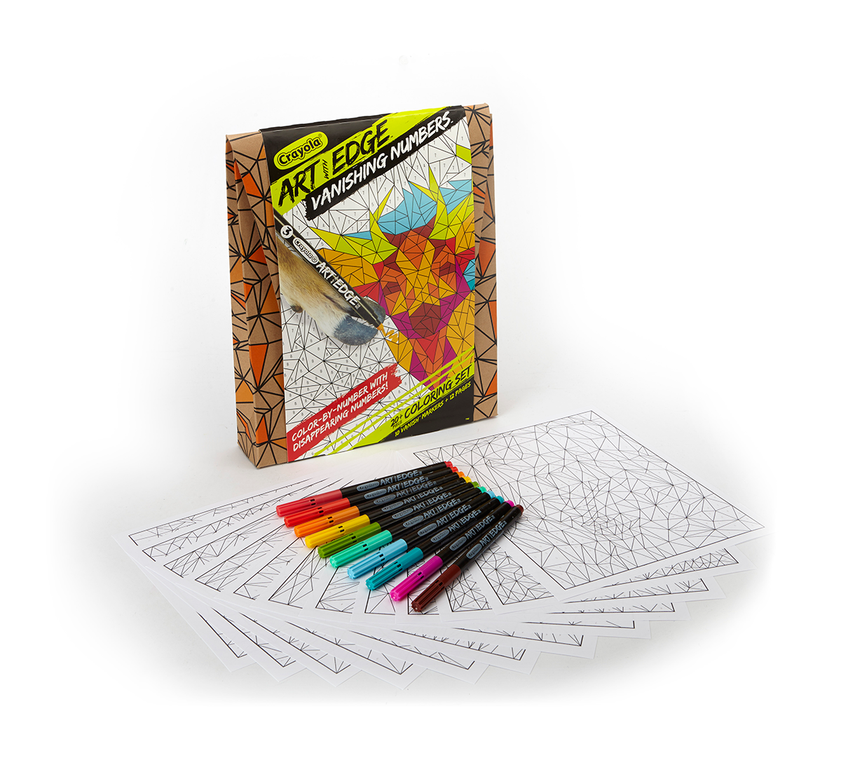 Crayola Art With Edge Polygon Puzzles 12 Hidden Animal