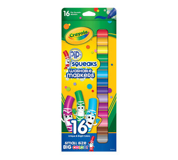 Pip-Squeaks Markers, 16 Count Front View of Package