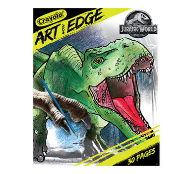Crayola Art With Edge Coloring Pages Jurassic World Ii