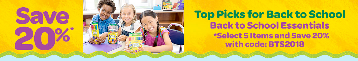 Save 20%. Top picks for back to school. Select 5 items and save 20%. use promo code: JINGLE