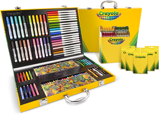 Crayola My Way Art Case, 64 Count Crayons, and 8 Count Crayons