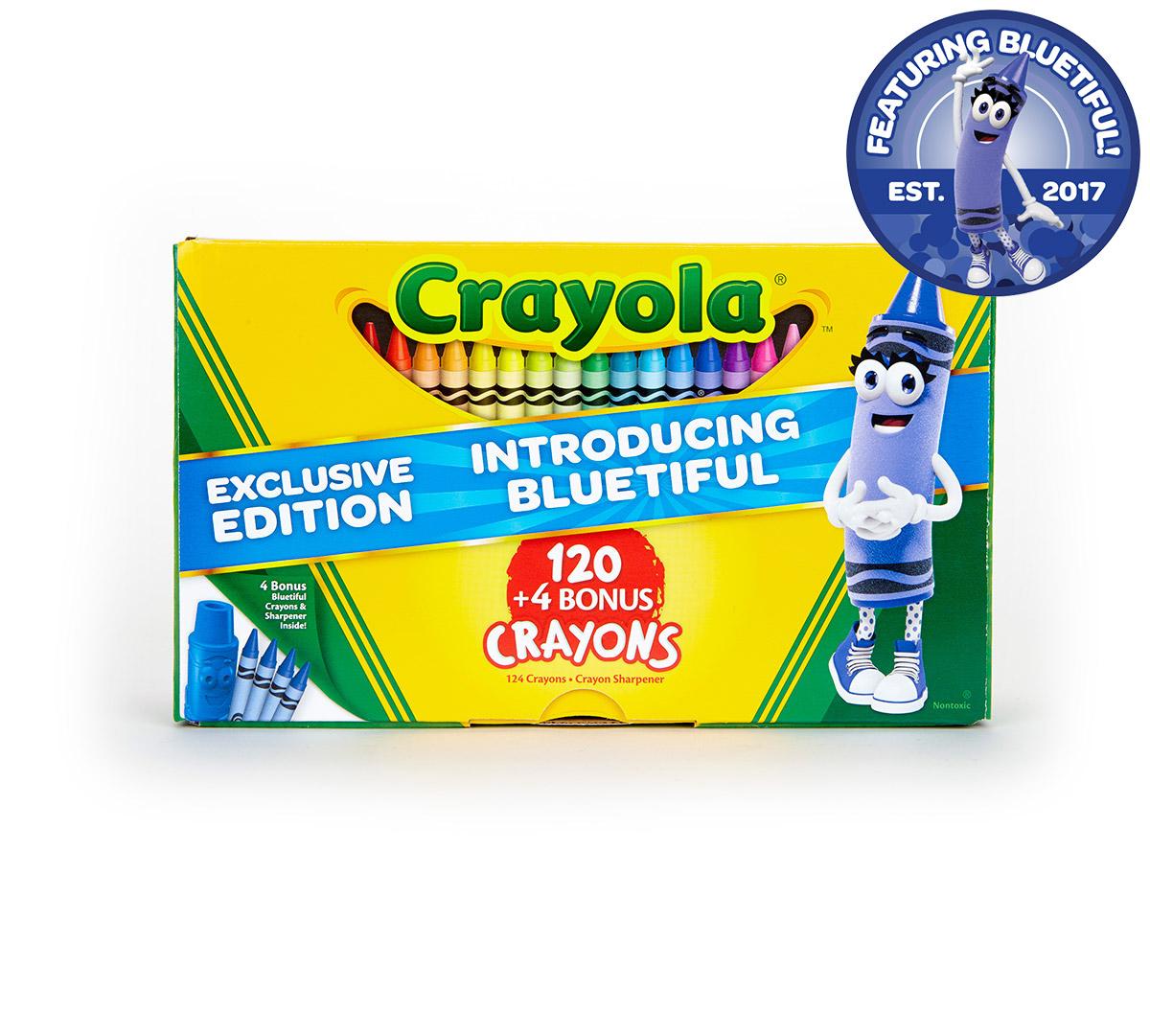 Bluetiful Crayola 124 Crayons