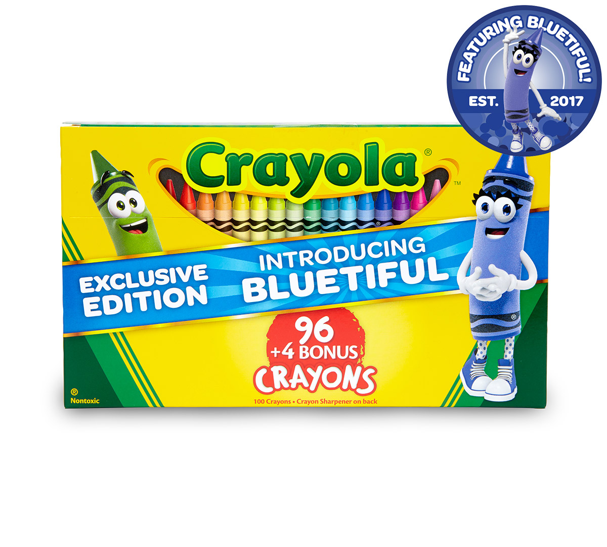 Bluetiful Crayola 96 Crayons with