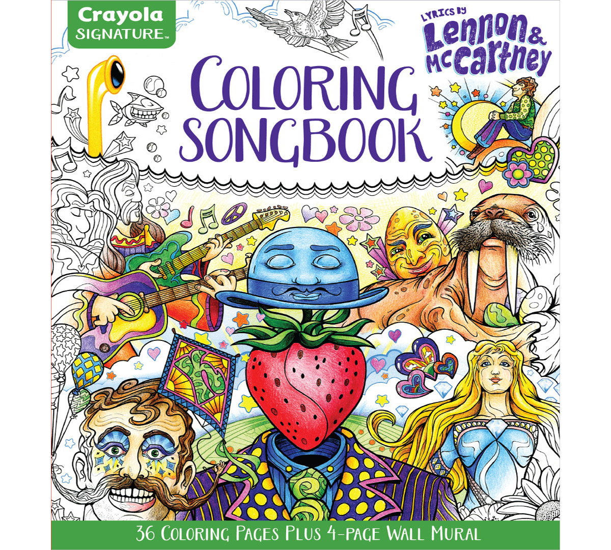 Signature coloring songbook lyrics of john lennon paul mccartney
