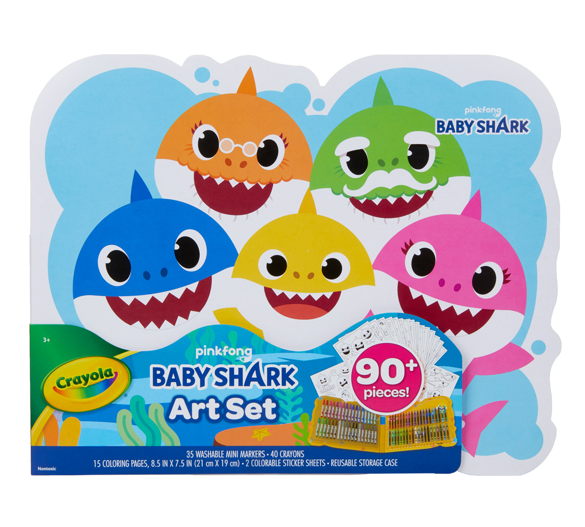 Baby Shark Art Set, Art Gift for Kids | Crayola.com | Crayola