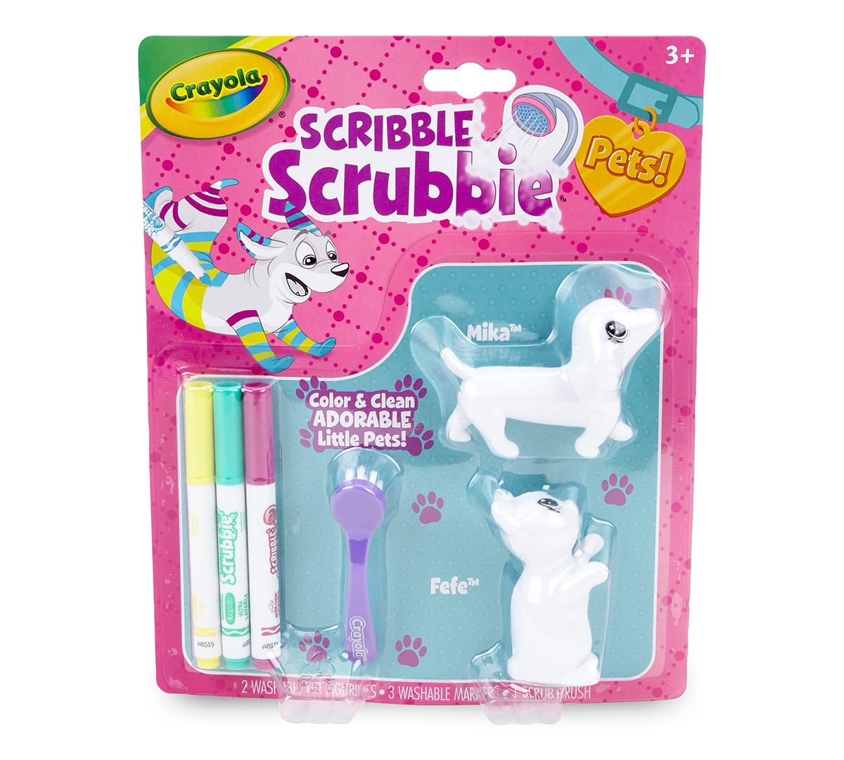 Scribble Scrubbie, Color-in Cat & Dog Toys for Kids ...