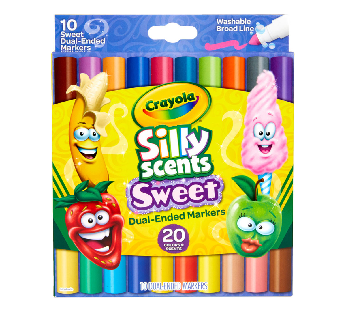 Silly Scents Sweet Dual Ended Markers 10 Count Crayola
