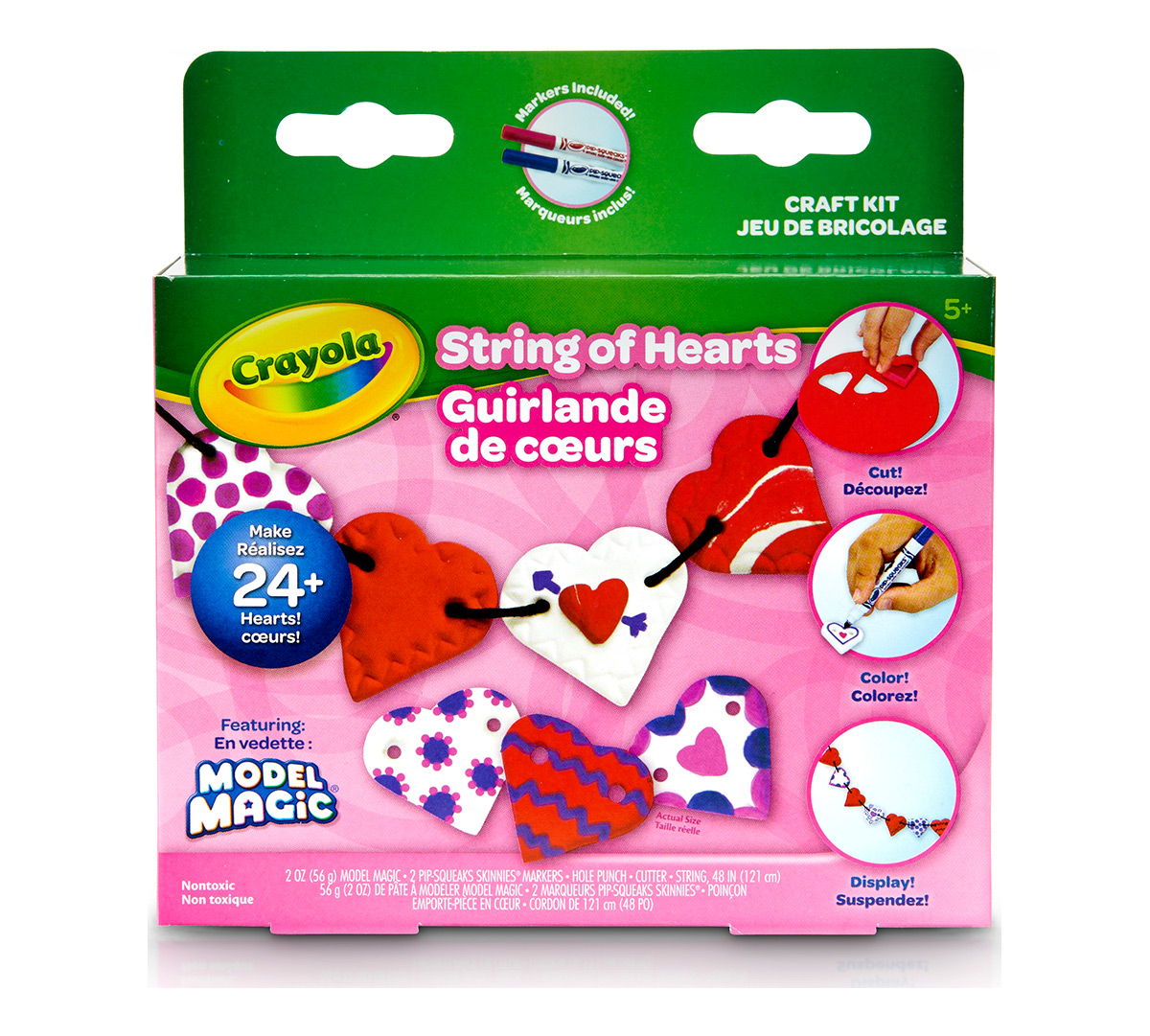 Crayola Model Magic Heartstring Garlands