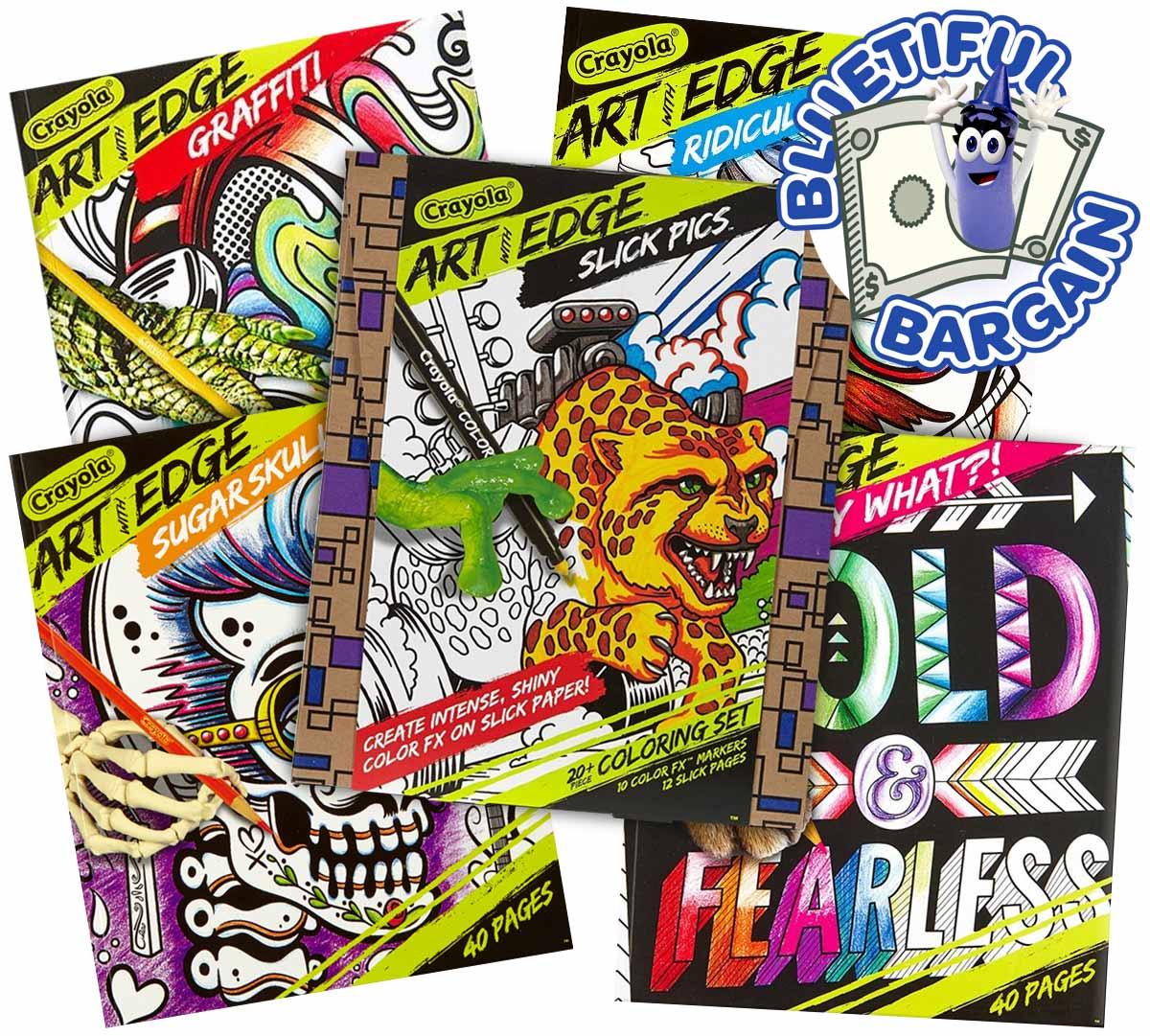 Art with Edge Coloring Book & Marker Value Set   Crayola.com   Crayola