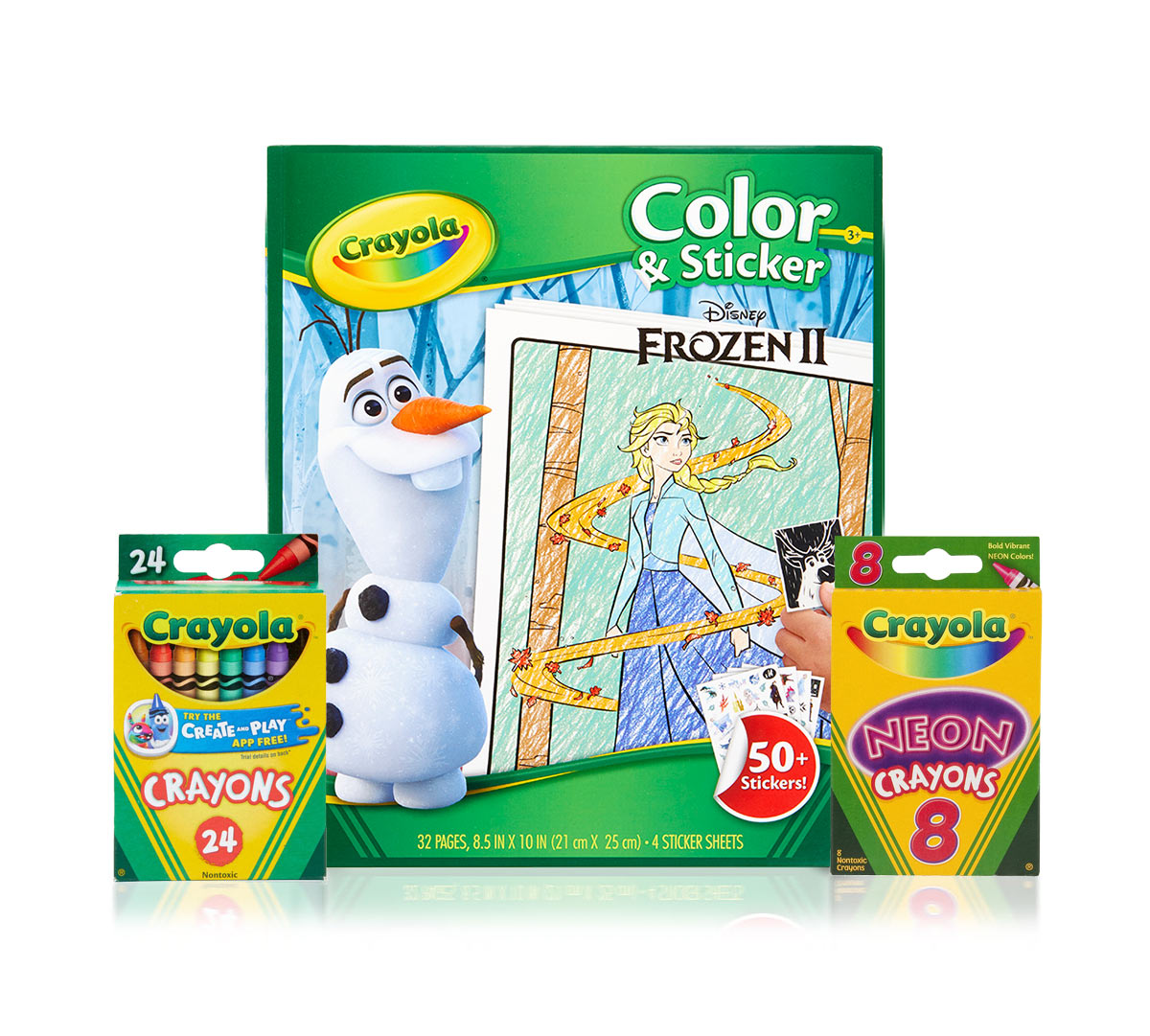Frozen 2 Color & Sticker Book with Crayons
