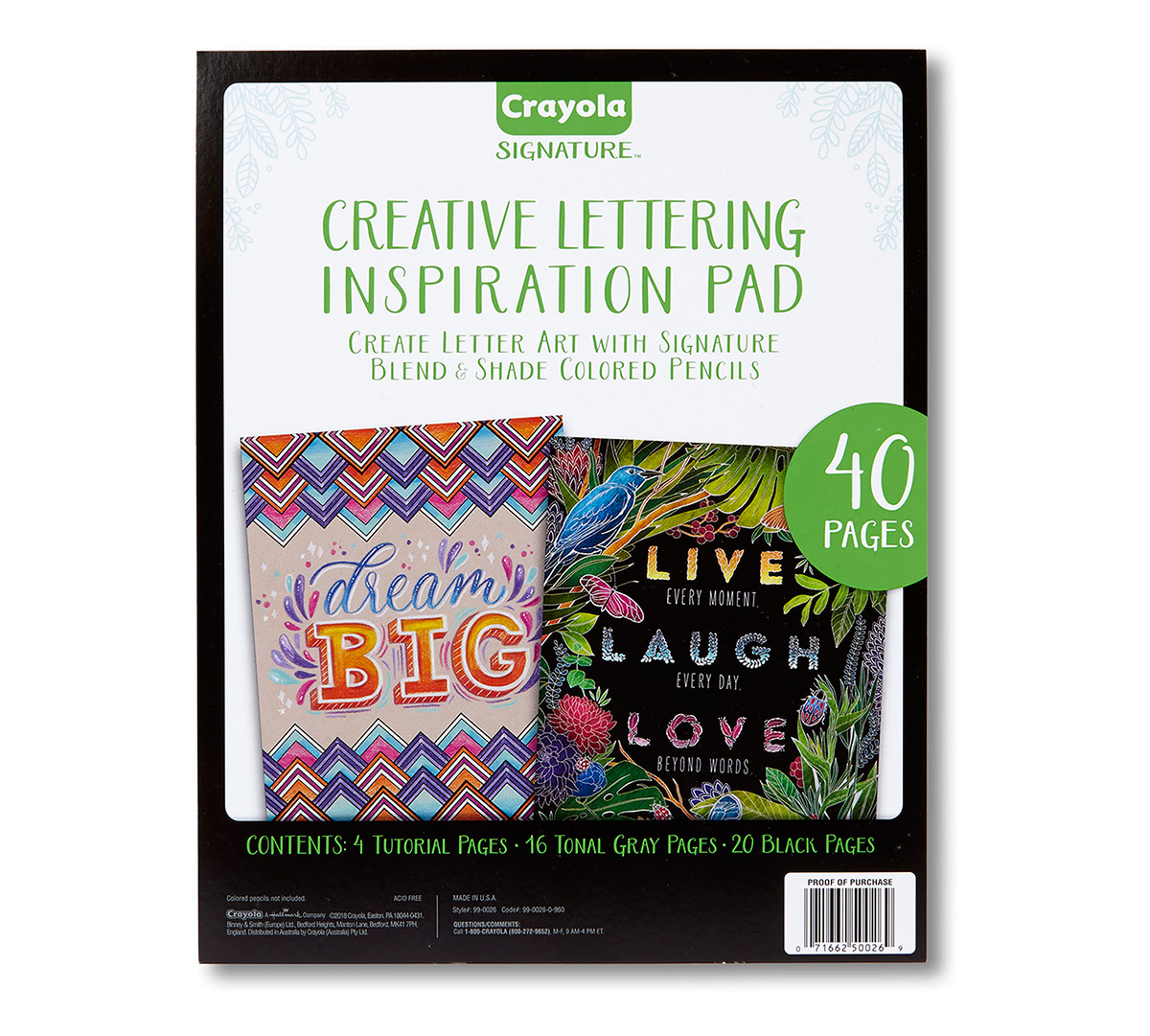 Signature Creative Lettering Inspiration Pad