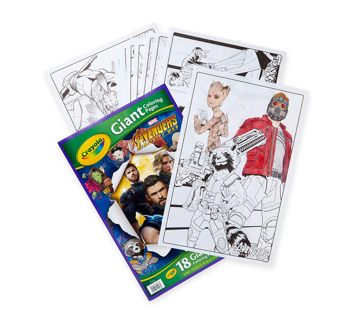 Crayola Giant Coloring Pages Avengers