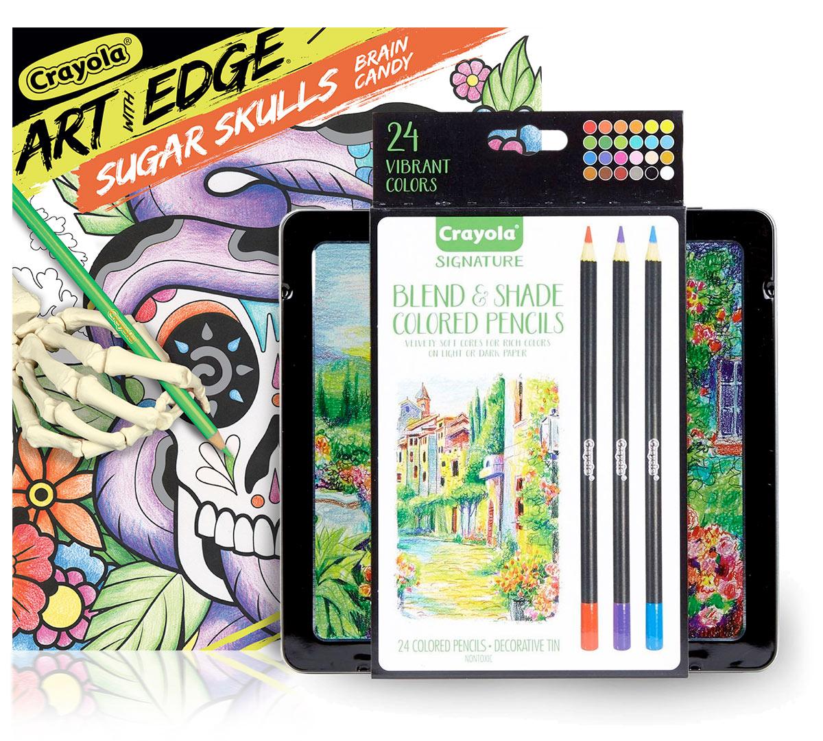 - Sugar Skulls Coloring Book & Colored Pencil Set Crayola.com