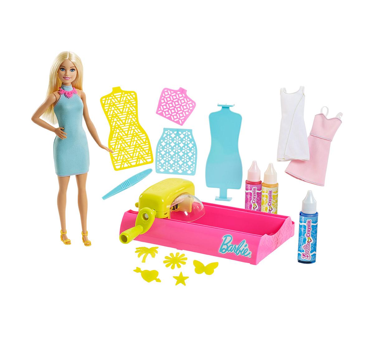 Barbie Crayola Color Magic Station Doll Washable Paint Set
