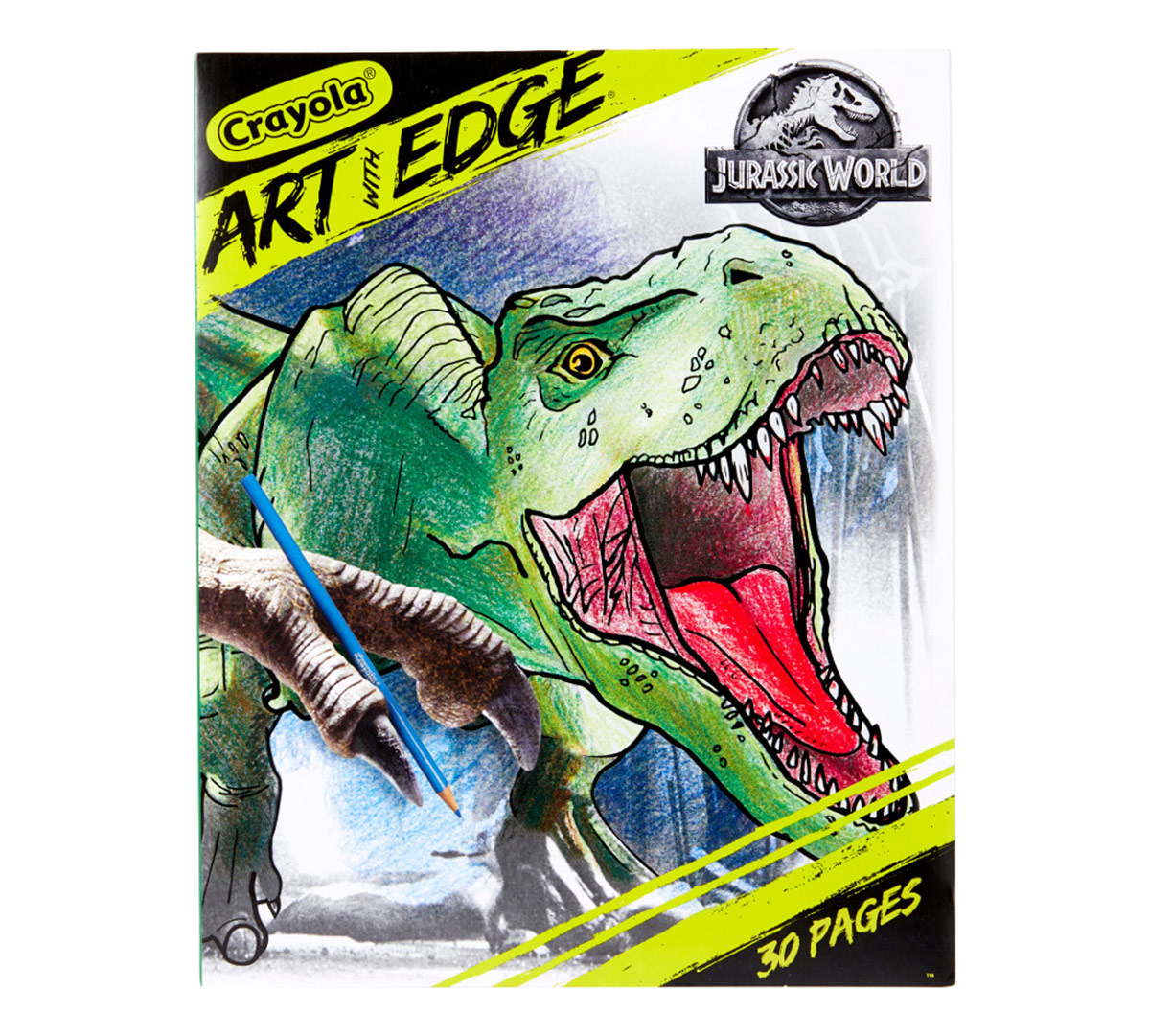 Crayola Art With Edge Coloring Pages Jurassic World Ii 30 Premium Coloring Pages Featuring Scenes And Dinosaurs From The Movie Crayola