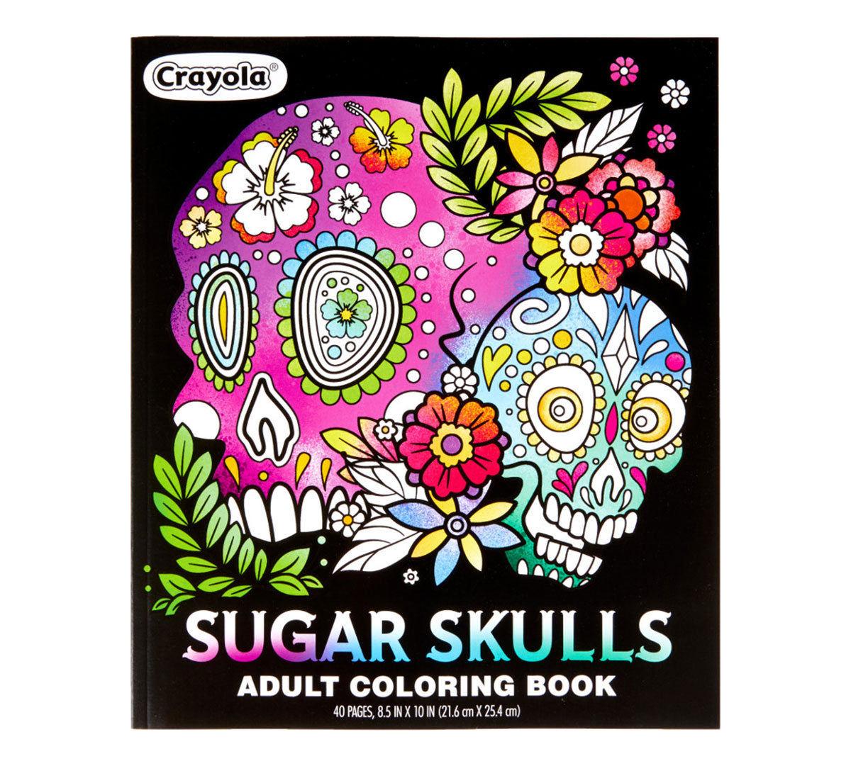 Sugar Skull Coloring page with color example – kaufen Sie diese ... | 1081x1200