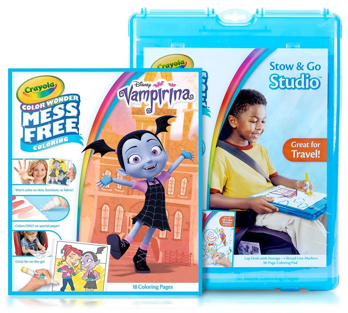 Color Wonder Vampirina Travel Kit for Kids | Crayola.com | Crayola