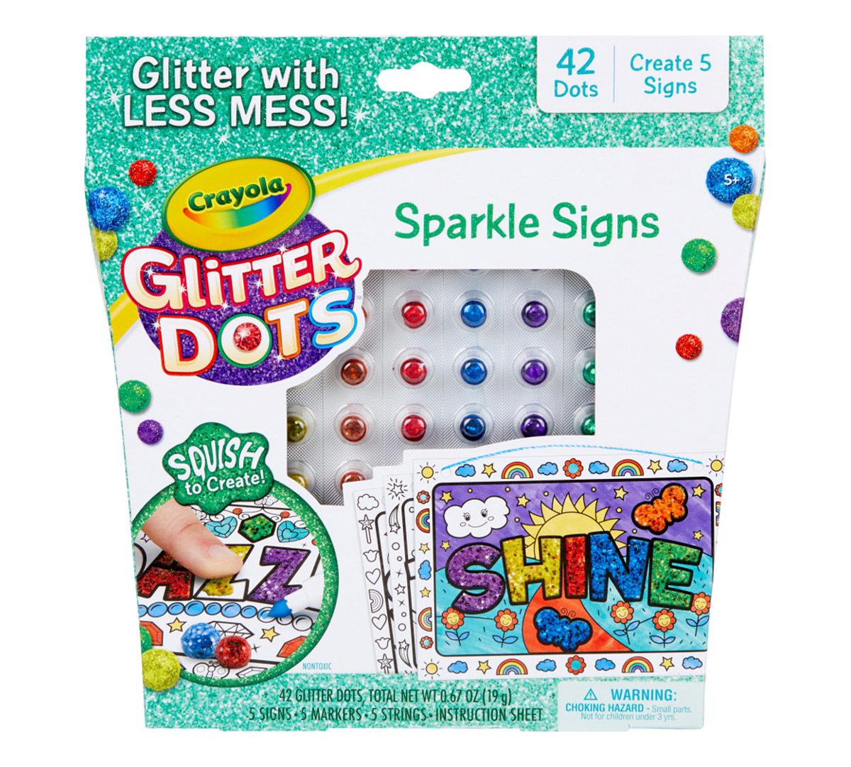 Glitter Dots Sparkle Signs Glitter Craft Kit Crayola