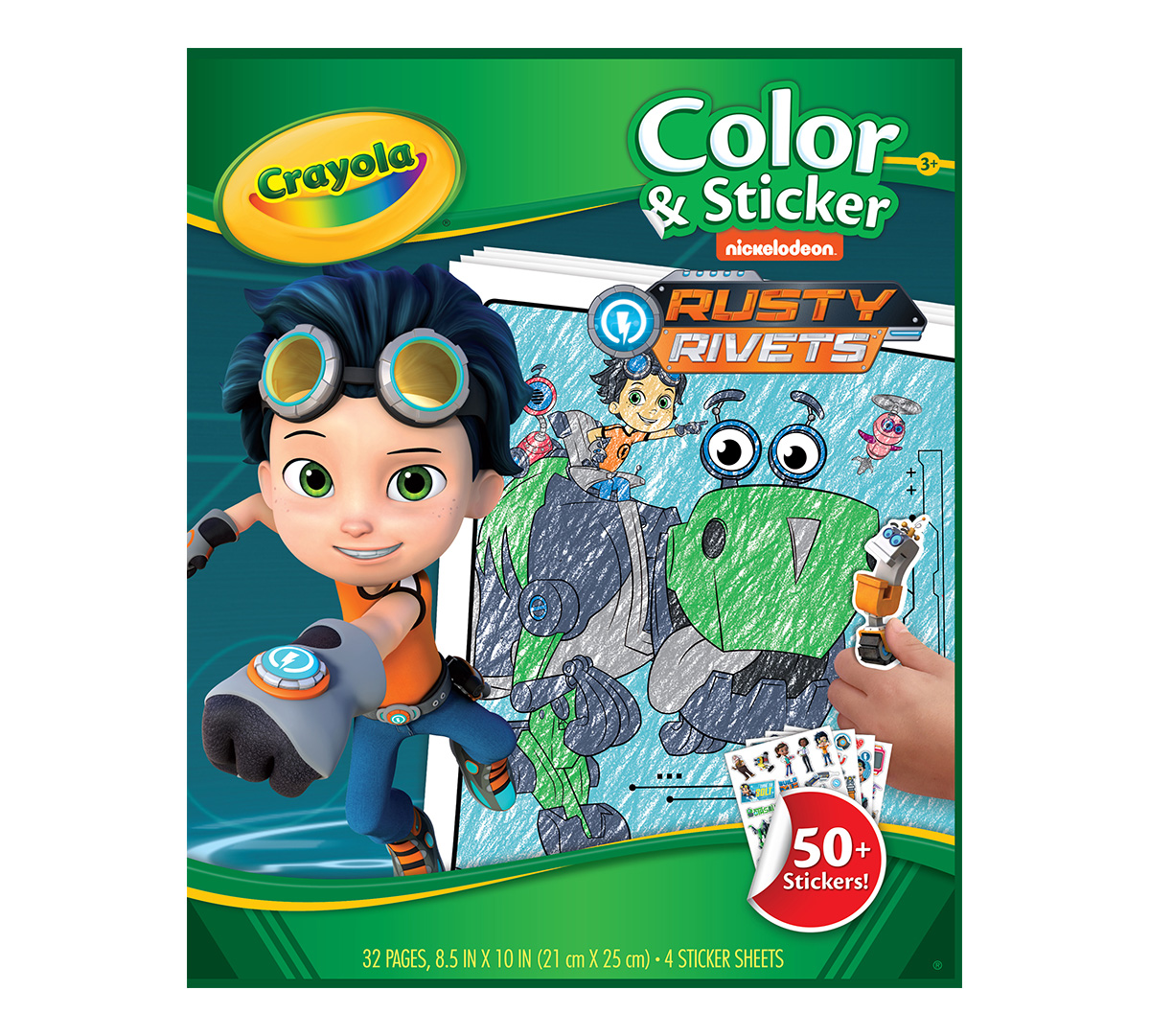 Rusty Rivets Coloring Pages: Crayola Rusty Rivets Color & Sticker Book, 32 Nickelodeon