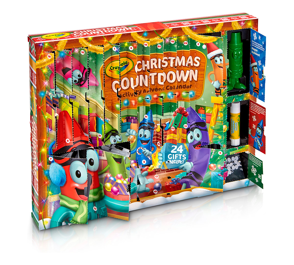 christmas countdown activity advent calendar crayola. Black Bedroom Furniture Sets. Home Design Ideas