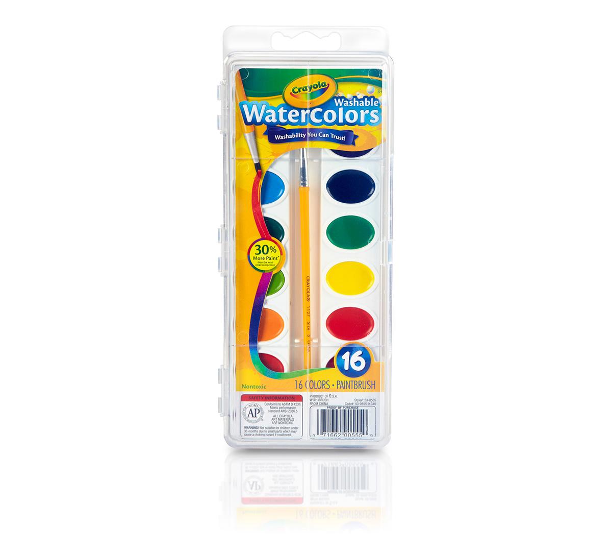 Washable Watercolors 16 ct.