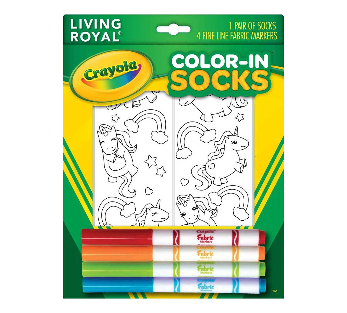 Be your own sock designed with Color-In Socks| Crayola.com ...