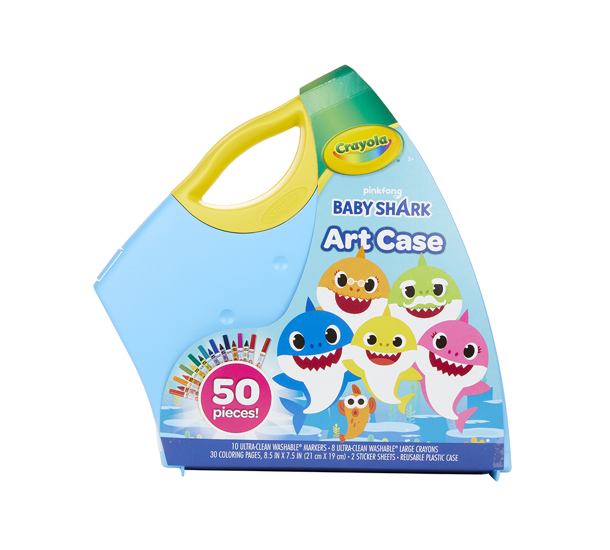 Baby Shark Coloring Set with Storage Case | Crayola.com | Crayola