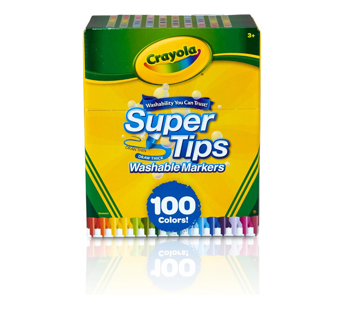 Super Tips Washable Markers, 100 Count Bulk   Crayola.com