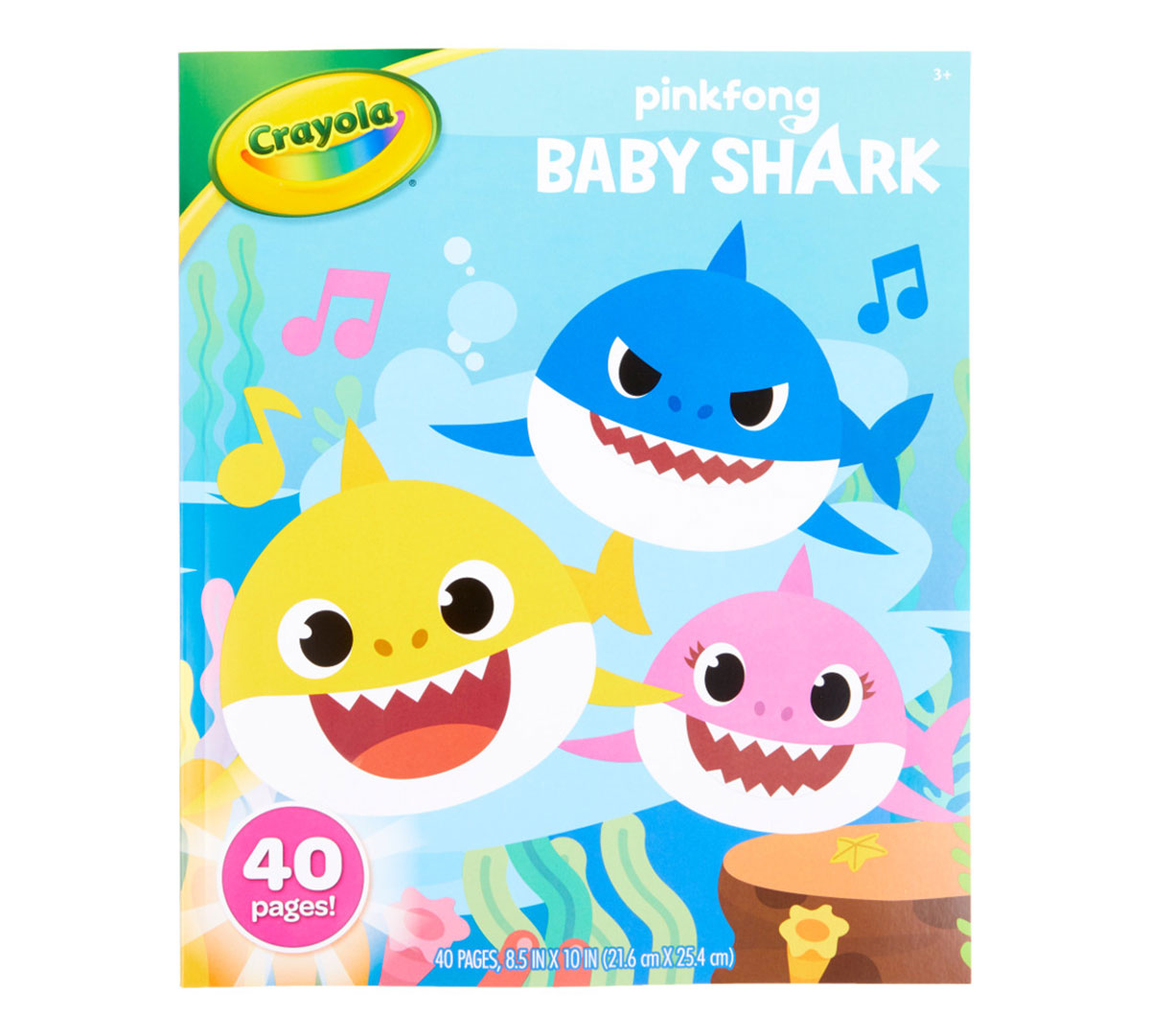 Baby Shark Coloring Book, 40 Coloring Pages | Crayola.com | Crayola