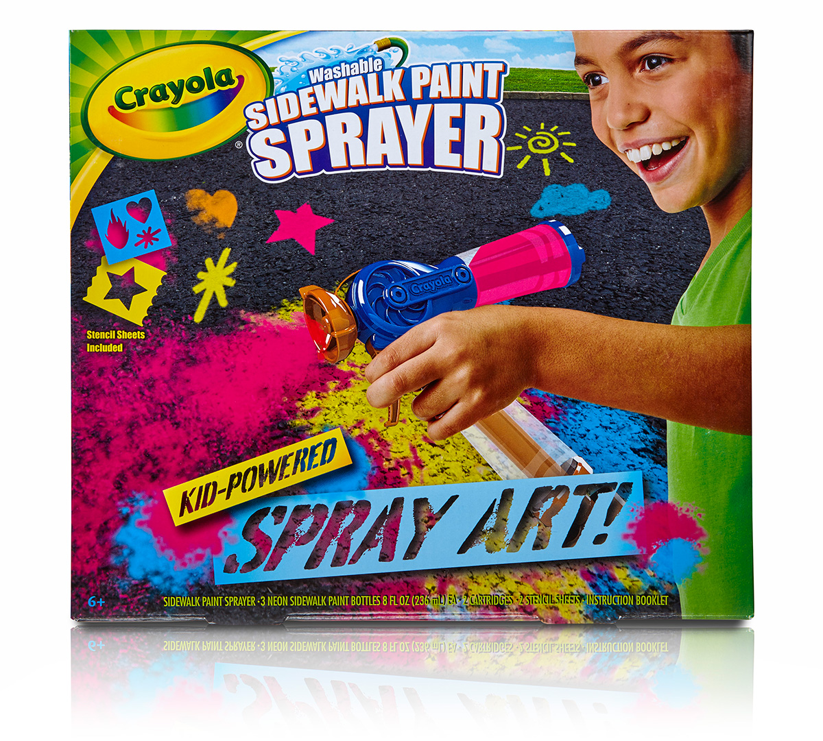Crayola Washable Sidewalk Paint Sprayer Outdoor All