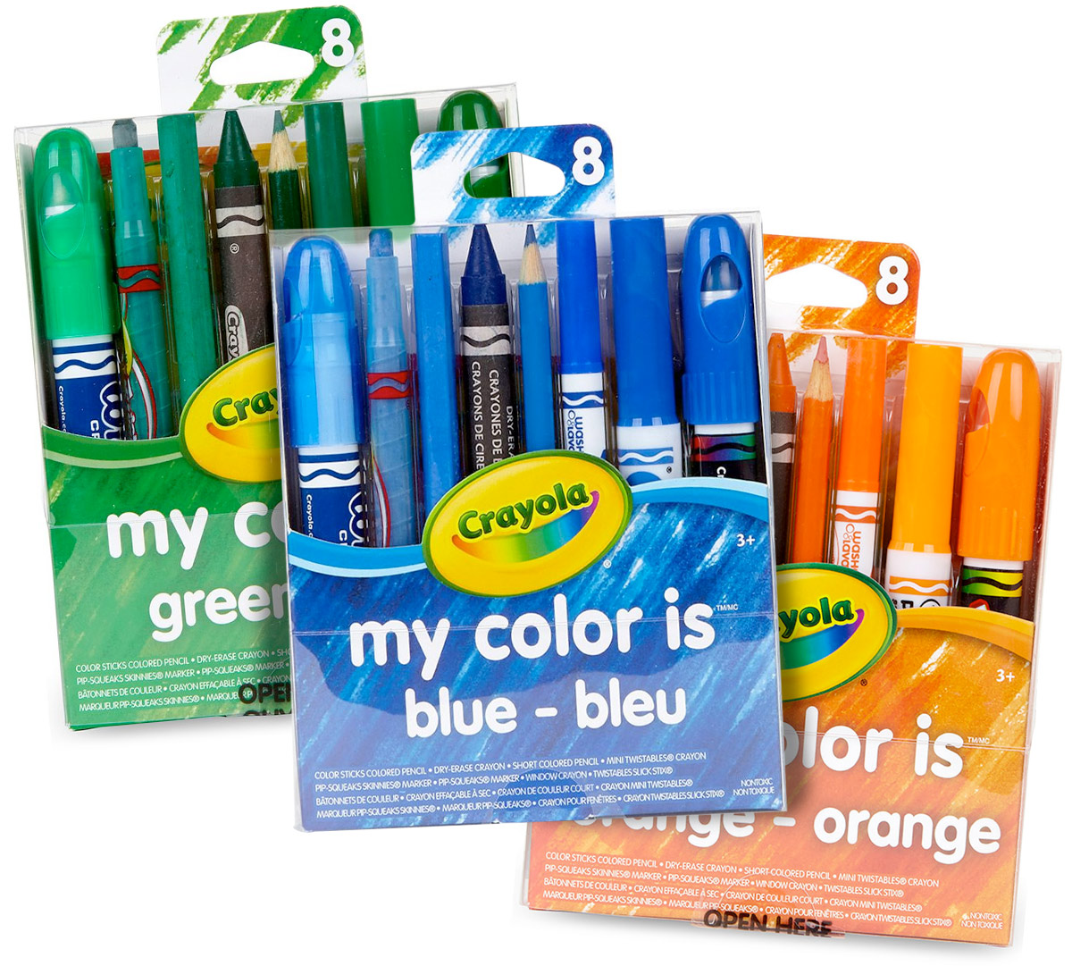My Favorite Color Blue Green Amp Orange Gifts Crayola