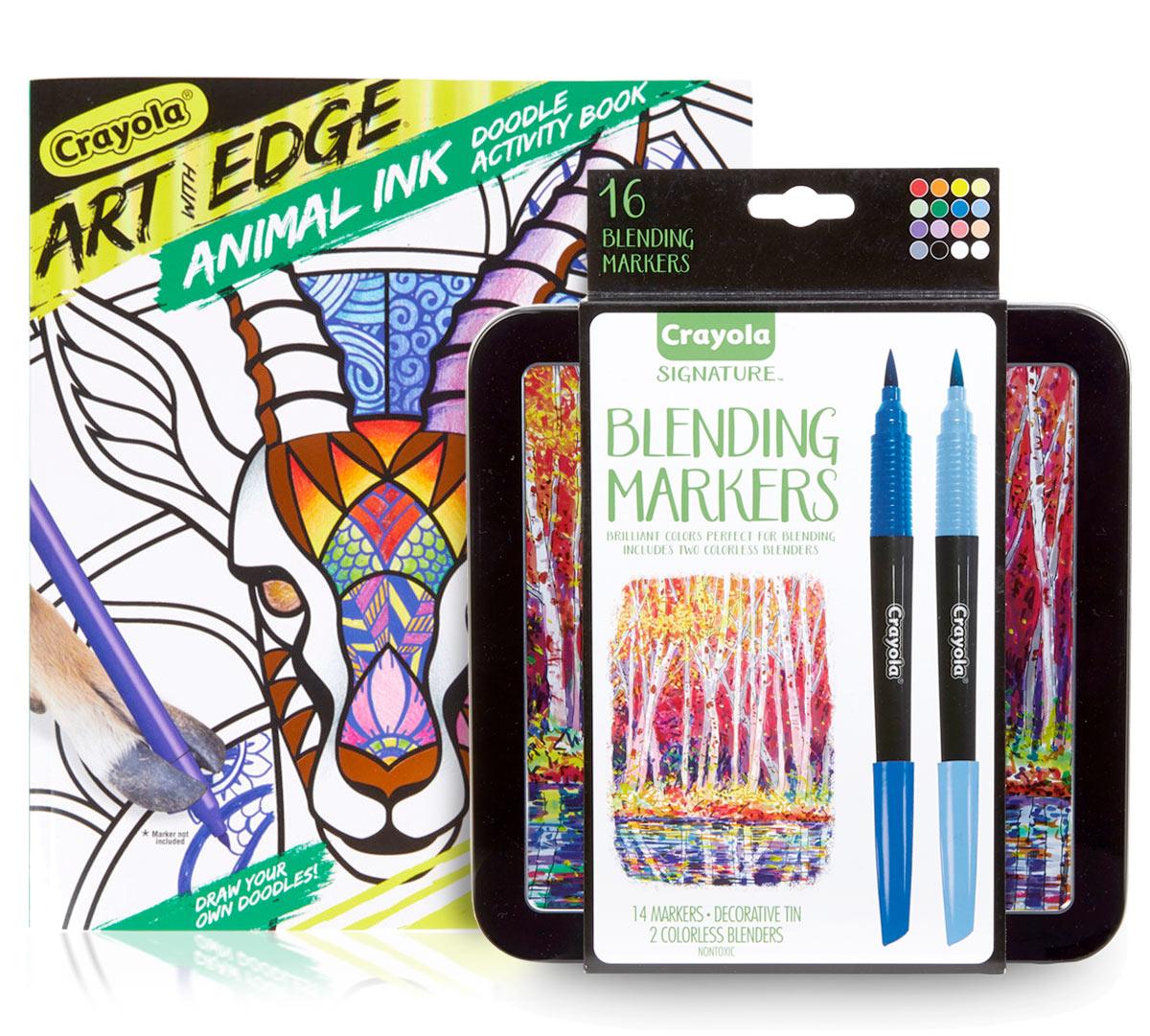 Jungle Animal Coloring Book Blending Markers Crayola Com Crayola