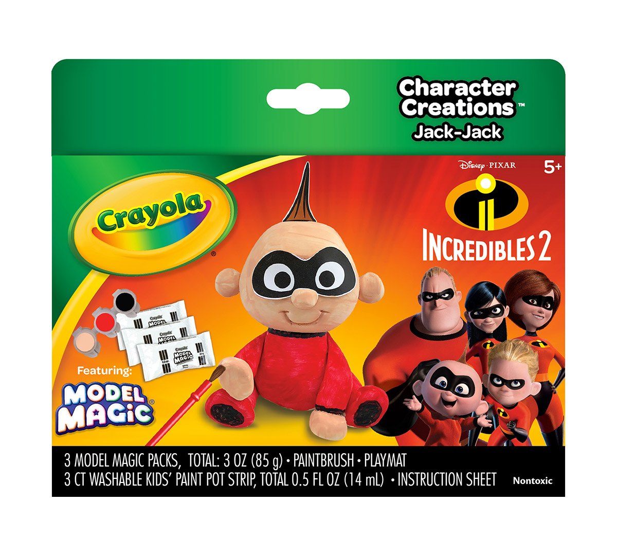 Crayola, Model Magic Character Creations, The Incredibles 2, Create  Jack-Jack, 3 Packs of Model Magic, 3 Paints, Brush, Play Mat, Punch Outs |  Crayola