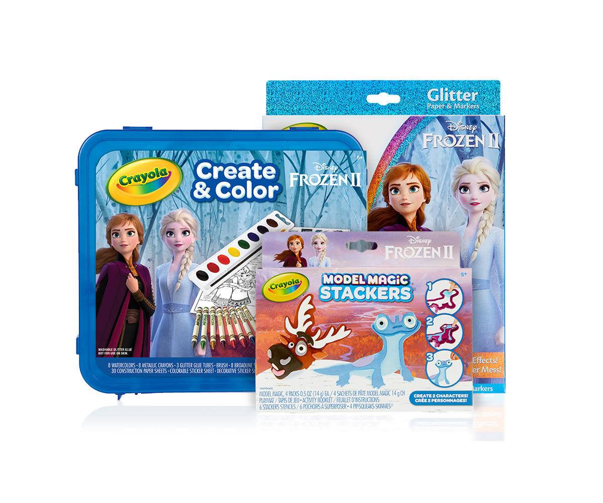 Frozen 2 Deluxe Art Set & Stackers Craft Kit