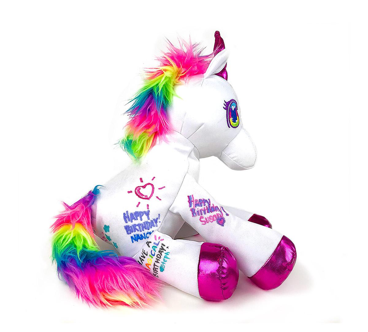 Plush Unicorn Toy, Autograph Animal | Crayola com | Crayola