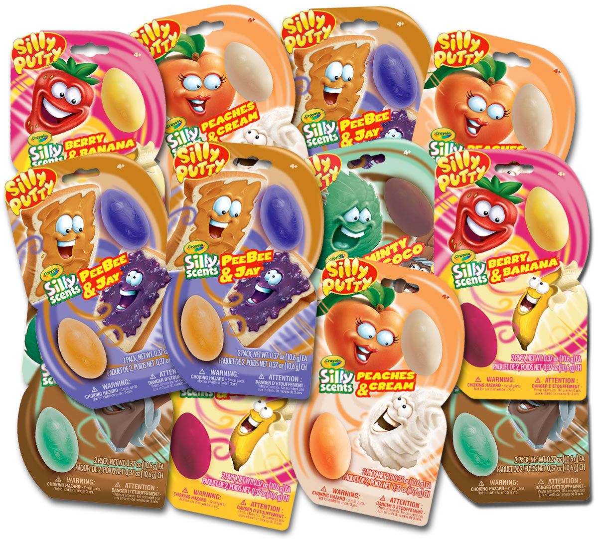 Silly Scents Silly Putty, Mixed Scents, 2 Count