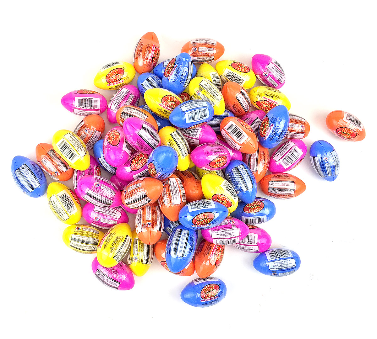 72 count Silly Putty - Bright Eggs-Assorted Colors