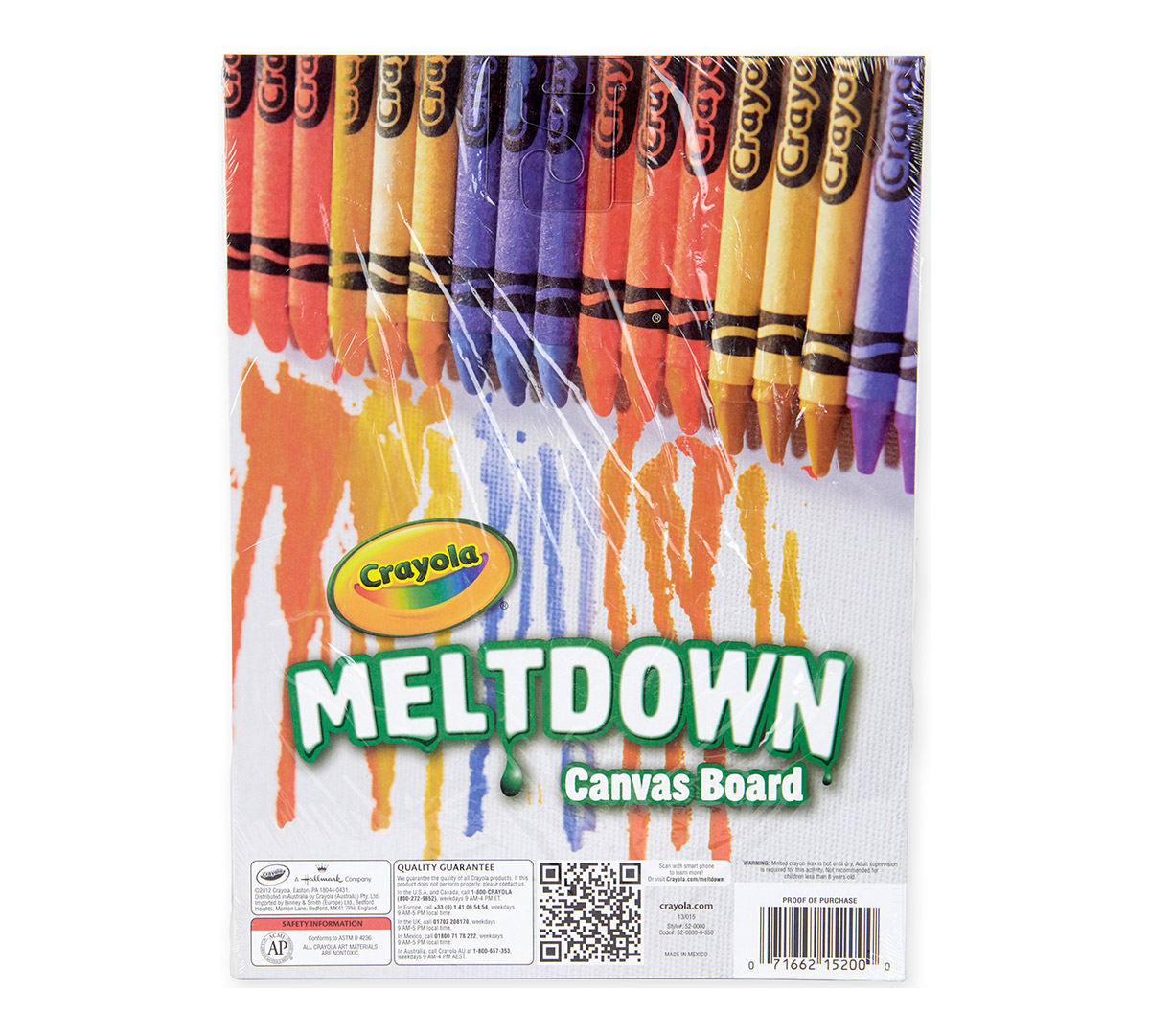 Crayon Meltdown and Paint Canvas
