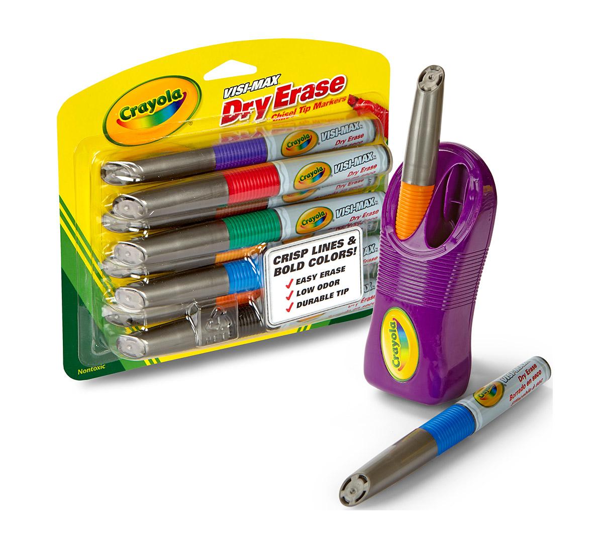Visi-Max Dry-Erase Markers & Magnetic Eraser Set