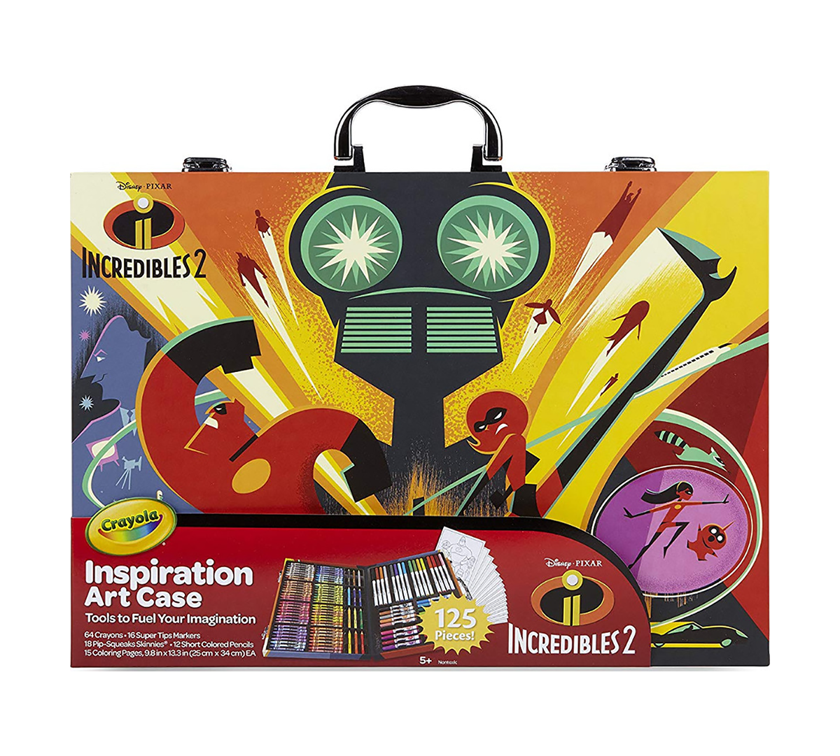 Crayola Incredibles 2 Inspiration Art Case Over 90